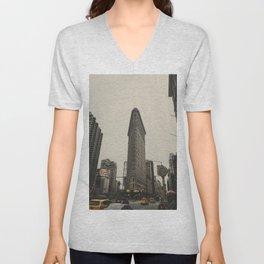 Flatiron building, New York architecture, NY building, I love NYC Unisex V-Neck