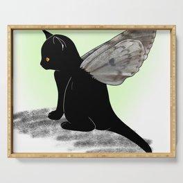 Black Kitten Fairy Serving Tray