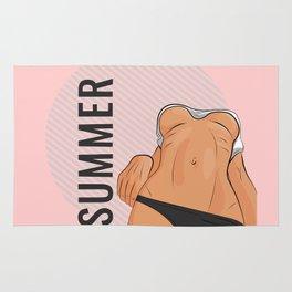 Summer boobs Rug