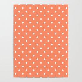 Peach Polka Dots Poster