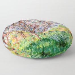 "Claude Monet ""Springtime at Giverny (Printemps à Giverny),"" Floor Pillow"