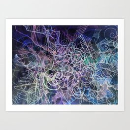 """Churning connectors; Flowing Zephyrs"" Inverse Art Print"