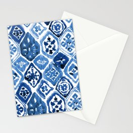 Arabesque tile art Stationery Cards