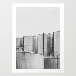 Industrial architecture, urban photography, still life, interior design, interior decoration, city Art Print