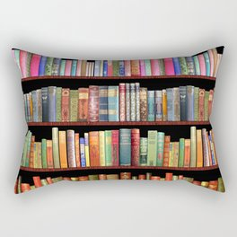 Book Lovers Gifts, Antique bookshelf Rectangular Pillow