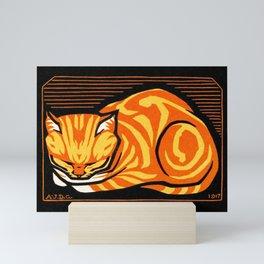 December Cat (1917) by Julie de Graag (1877-1924) Mini Art Print