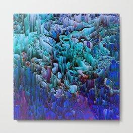 I'm No Glitch - Abstract Pixel Art Metal Print