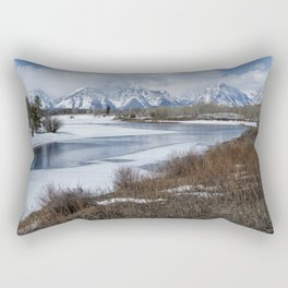 Grand Tetons from Oxbow Bend Rectangular Pillow