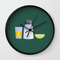 tequila Wall Clocks featuring Tequila by Rob Barrett — Nice Hot Cuppa