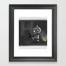 It is for your own safety Framed Art Print