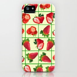 Strawberries pattern iPhone Case