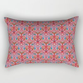 Pink Tribal Pattern Rectangular Pillow