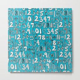 math doodle blue Metal Print