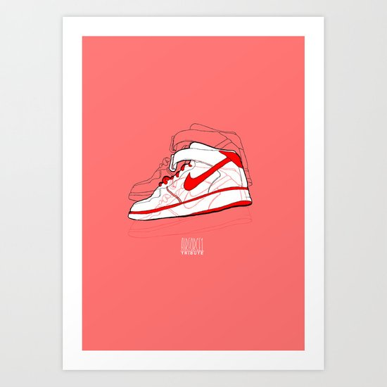 Air Forces 1 Tribute Art Print