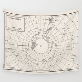 Map of Antarctica (1955) Wall Tapestry