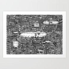 クラッタ市 (Clutter City) Art Print