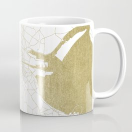 White on Gold Dublin Street Map Coffee Mug