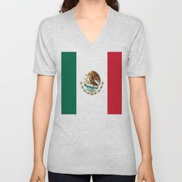 mexican sports fan mexico flag Unisex V-Neck