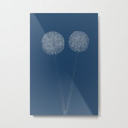 Onion Flower Blueprint Metal Print