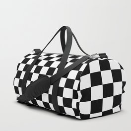 Black White Boxes Design Duffle Bag