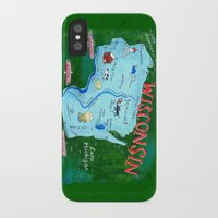 wisconsin iPhone & iPod Cases featuring WISCONSIN by Christiane Engel