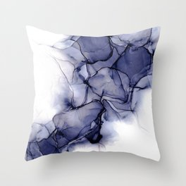 Purple Wispy: Original Abstract Alcohol Ink Painting Throw Pillow