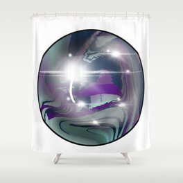 Rainbow Fluorite Crystal Ball Shower Curtain