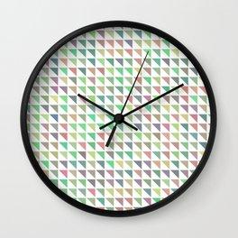 edge of autumn geometric pattern Wall Clock