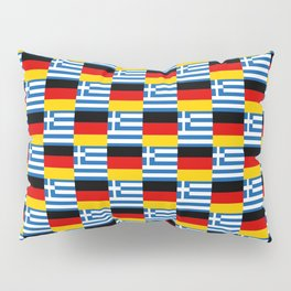 Mix of flag: Germany and greece Pillow Sham