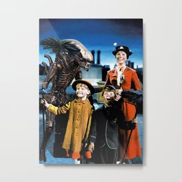 Alien in Mary Poppins Metal Print