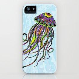 Electric Jellyfish iPhone Case