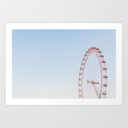 London Eye at Sunset Art Print