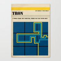 tron Canvas Prints featuring Tron by Tommaso Valsecchi