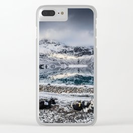 Chilling Yaks Clear iPhone Case