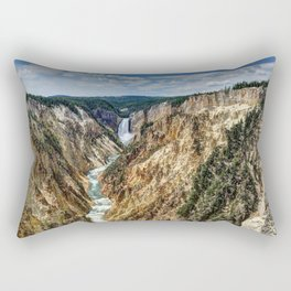 Grand Canyon of Yellowstone River and Lower Falls from Artist Point Rectangular Pillow