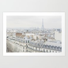 Paris Greys Art Print
