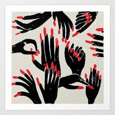 hands, fingers, nails & fingernails Art Print