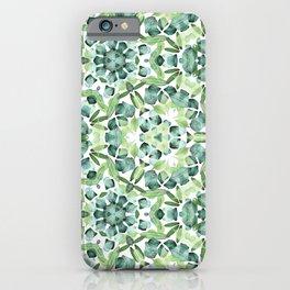 Green petal kaleidoscope  iPhone Case