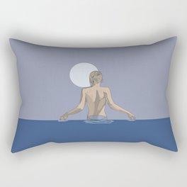 Swim with the moon Rectangular Pillow