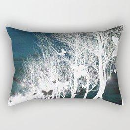 Arbres aux papillons Rectangular Pillow