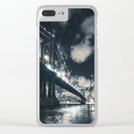 manhattan bridge in nyc Clear iPhone Case