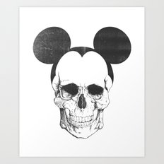OLDSKULL FRIEND Art Print
