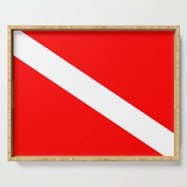 Diver Down Flag Serving Tray