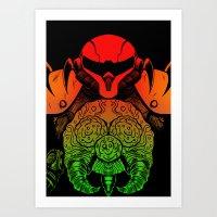 samus Art Prints featuring samus by Sixtybones