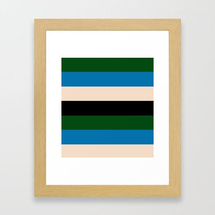 Color Stripe _003 Framed Art Print