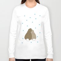 bunnies Long Sleeve T-shirts featuring Bunnies by Olaf Designs