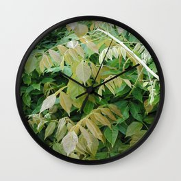 Fall Leaves Wall Clock