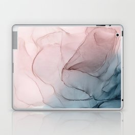 Blush Sands Blue Sea Ombre Abstract Painting Laptop & iPad Skin