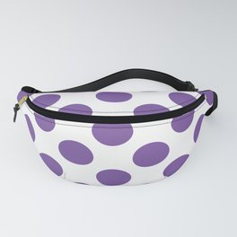 Purple Large Polka Dots Pattern Fanny Pack