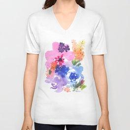 Pastel Bouquet Unisex V-Neck